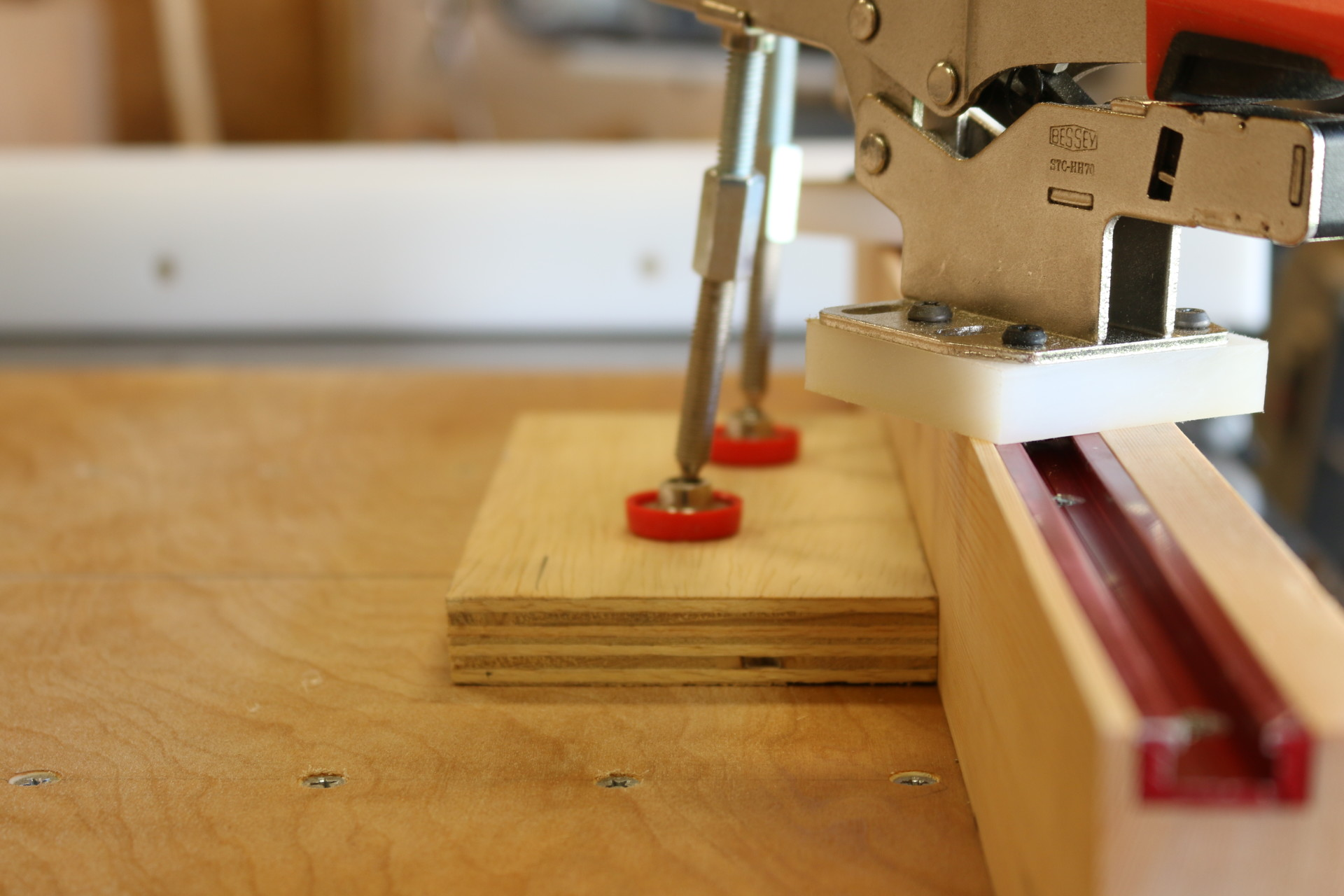 table saw sled track